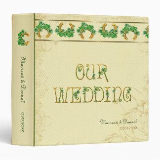 Shamrocks and Gold Irish Wedding Album Binder