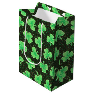 Shamrocks and Polka Dots Medium Gift Bag