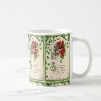 Shamrocks And Roses Coffee Mug