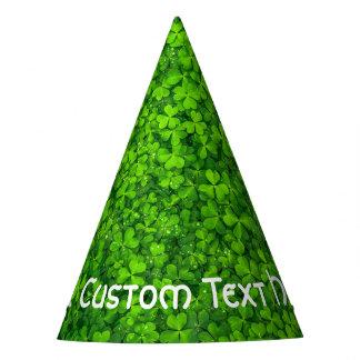 Shamrocks Clover Leaves St. Patrick's Day Birthday Party Hat