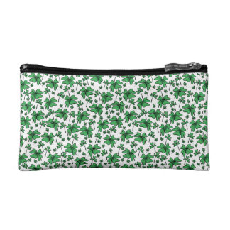 Shamrocks Clover Pattern Cosmetic Bag