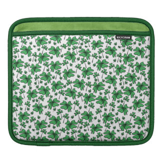 Shamrocks Clover Pattern iPad Sleeve