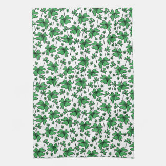 Shamrocks Clover Pattern Kitchen Towel