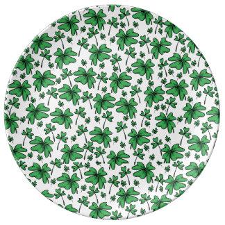 Shamrocks Clover Pattern Plate