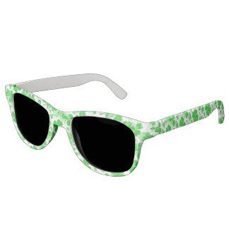 Shamrocks / Clover Tattoos pattern + your ideas Sunglasses