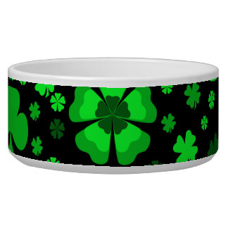 Shamrocks & Clovers Dog Bowl