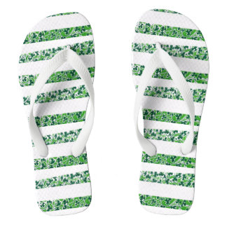 Shamrocks Design Flip Flops