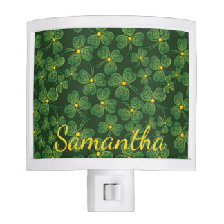 Shamrocks Design Nightlight Nite Light