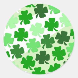 Shamrocks Envelope Seals - Green Round Sticker