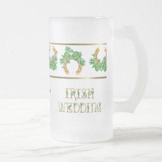 Shamrocks et mariage irlandais d'or mugs à café