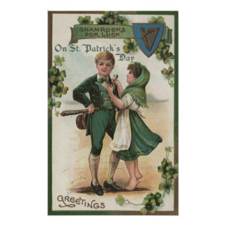 Shamrocks for Luck Poster