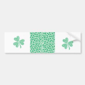 Shamrocks for St Patrick's Day Car Bumper Sticker