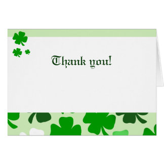 Shamrocks Green Irish Folded Thank you notes