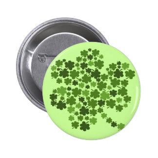 Shamrocks in a Shamrock 2 Inch Round Button
