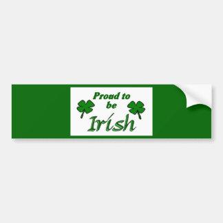 Shamrocks Irish Pride Bumper Sticker
