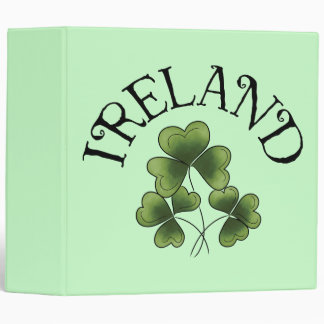 Shamrocks Of Ireland Binder