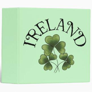 Shamrocks Of Ireland Vinyl Binder
