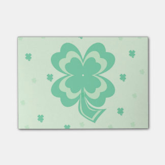 Shamrocks Pattern Post It Notes