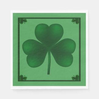 Shamrocks St Patricks Day Party Paper Napkin