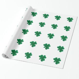 Shamrocks - wrapping paper