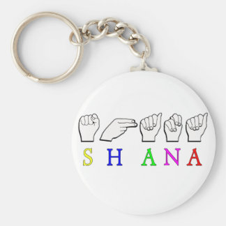 SHANA NAME SIGN ASL FINGERSPELLED KEYCHAIN