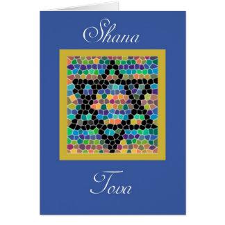Shana Tova!Rosh Hashanah-Star of David mosaic Card
