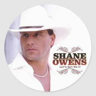 "SHANE OWENS ""Let's Get On It"" Round Sticker"