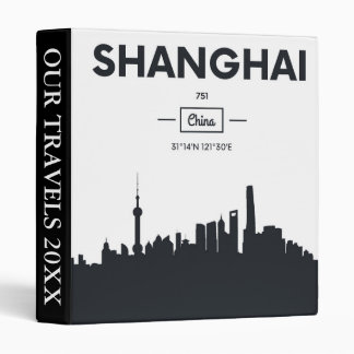 Shanghai, China | City Coordinates Binders