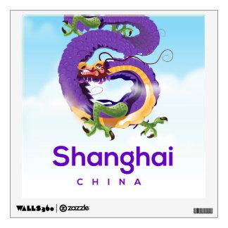 Shanghai China Dragon travel poster Wall Sticker