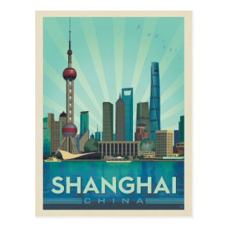 Shanghai, China | Skyline Postcard