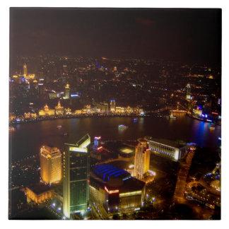 Shanghai China wonderful skyline with modern Ceramic Tiles