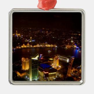 Shanghai China wonderful skyline with modern Metal Ornament