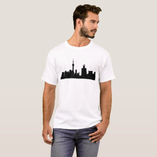 shanghai city skyline silhouette T-Shirt