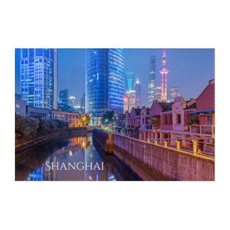 Shanghai Financial District custom text wall panel Acrylic Wall Art