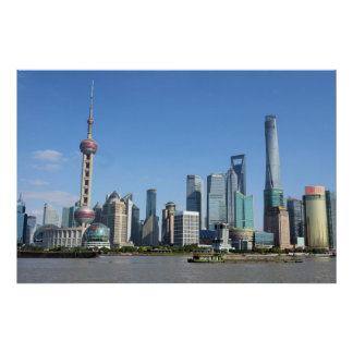 Shanghai from the Bund Poster