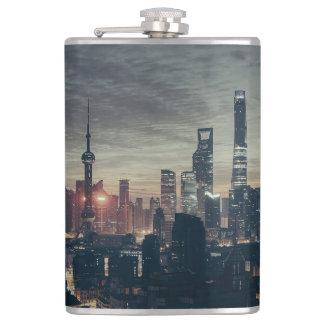 Shanghai Night Skyline Flasks