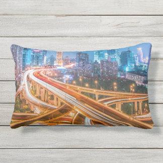 Shanghai Overpass 2 throw pillows
