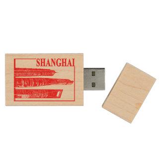 Shanghai Wood USB Flash Drive