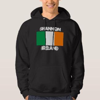 Shannon, Ireland with Irish flag Hoodie