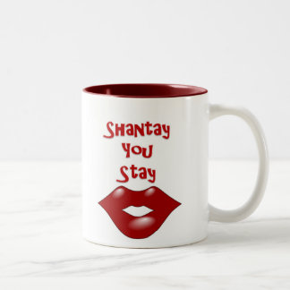 Shantay You Stay / Sashay Away Two-Tone Coffee Mug