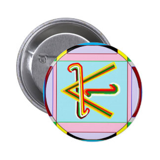 Shanti i.e. Peace: Karuna Reiki Healing Symbol 2 Inch Round Button