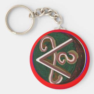 Shanti = Peace Basic Round Button Keychain