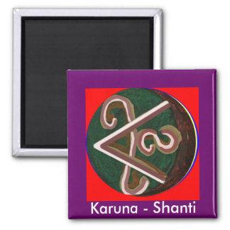 Shanti = Peace Square Magnet