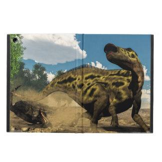 Shantungosaurus defending from tarbosaurus cover for iPad air
