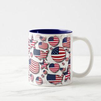 Shape of USA Full Mug