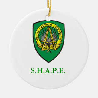 SHAPE Shield Ceramic Ornament