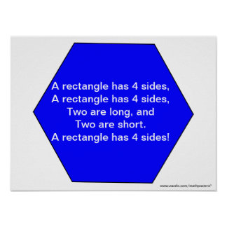 Shape Song: A hexagon has 6 sides Poster
