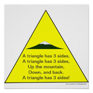Shape Song:A triangle has 3 sides Print