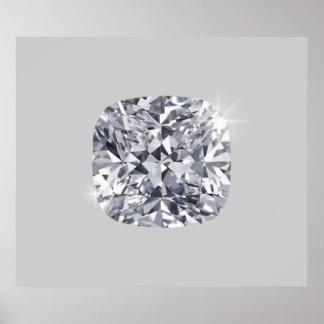 Shaped diamond poster