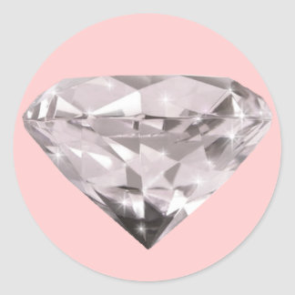 shaped diamonds pattern classic round sticker